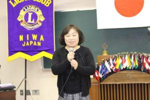 第884回例会  新事務員 池田 佳子さん挨拶
